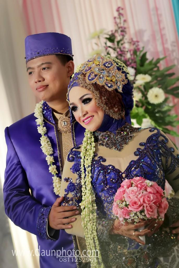 pernikahan affifah dan dhnanny daun photo