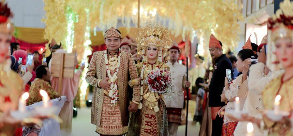 Kemegahan Pernikahan Adat Palembang